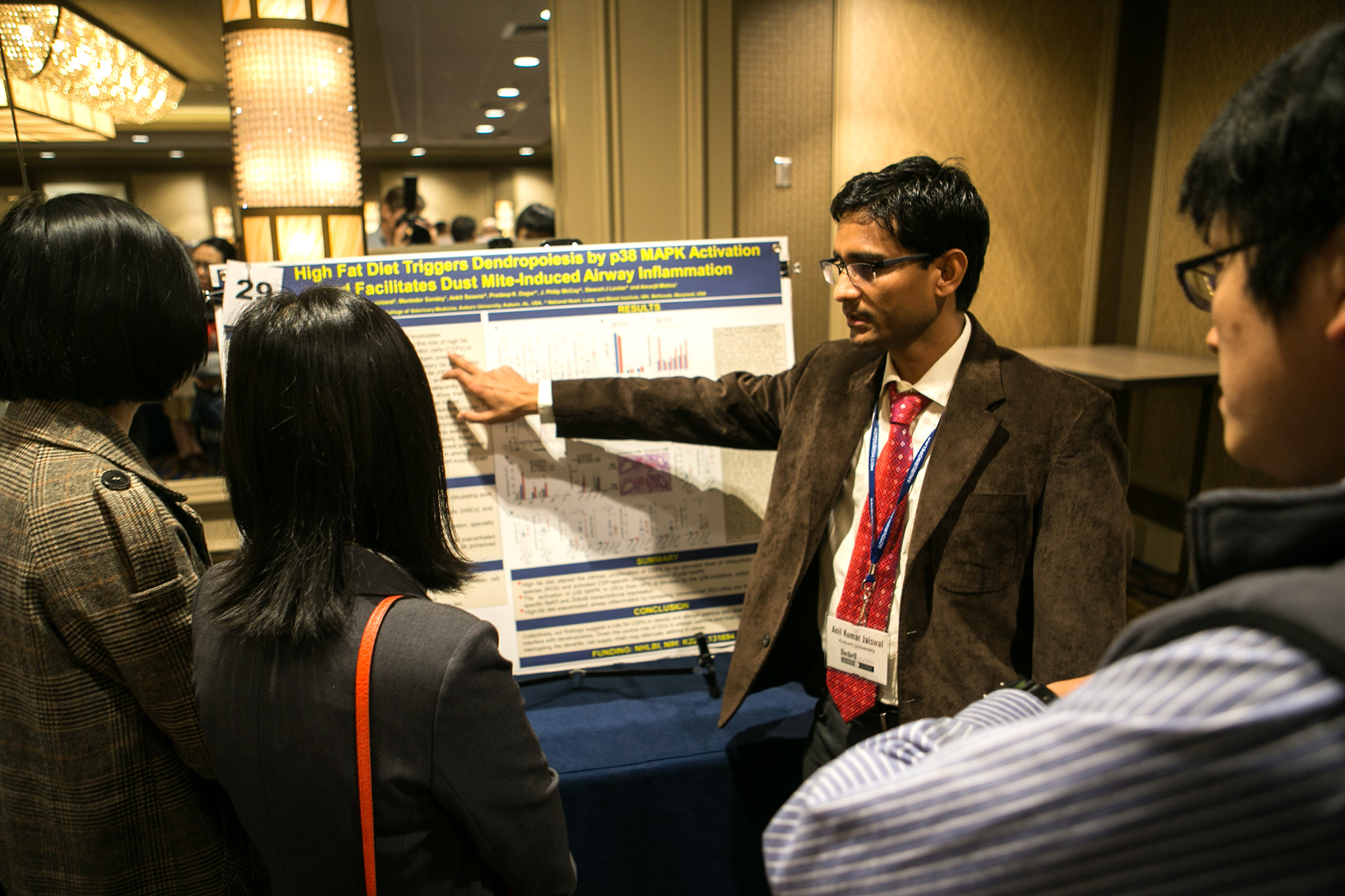 Anil Kumar Jaiswal presents research poster at a past Boshell Research Day.