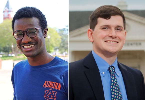 from left: Auburn University students, Che Ka and Grant Wilkinson