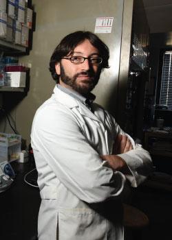 Dr. Steven Mansoorabadi in his lab