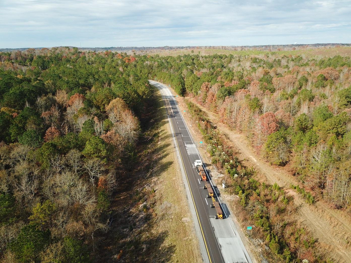 test track at Auburn University's National Center for Asphalt Technology