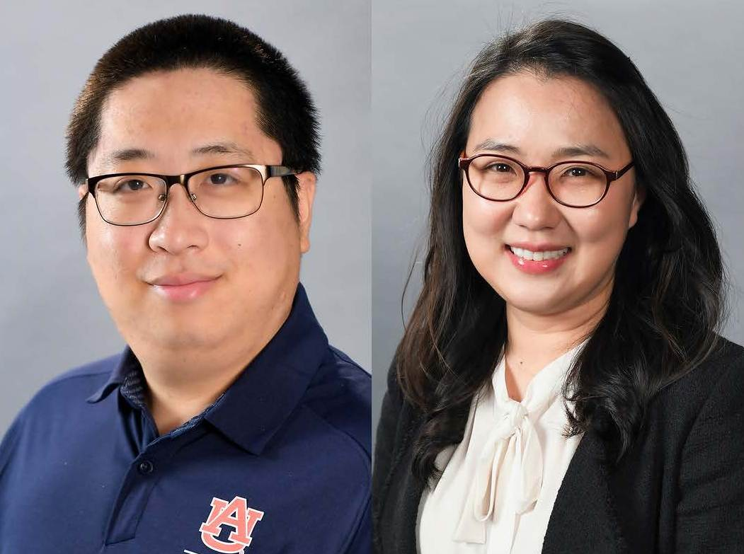 from left: Kangkang Qi and Sumin Han