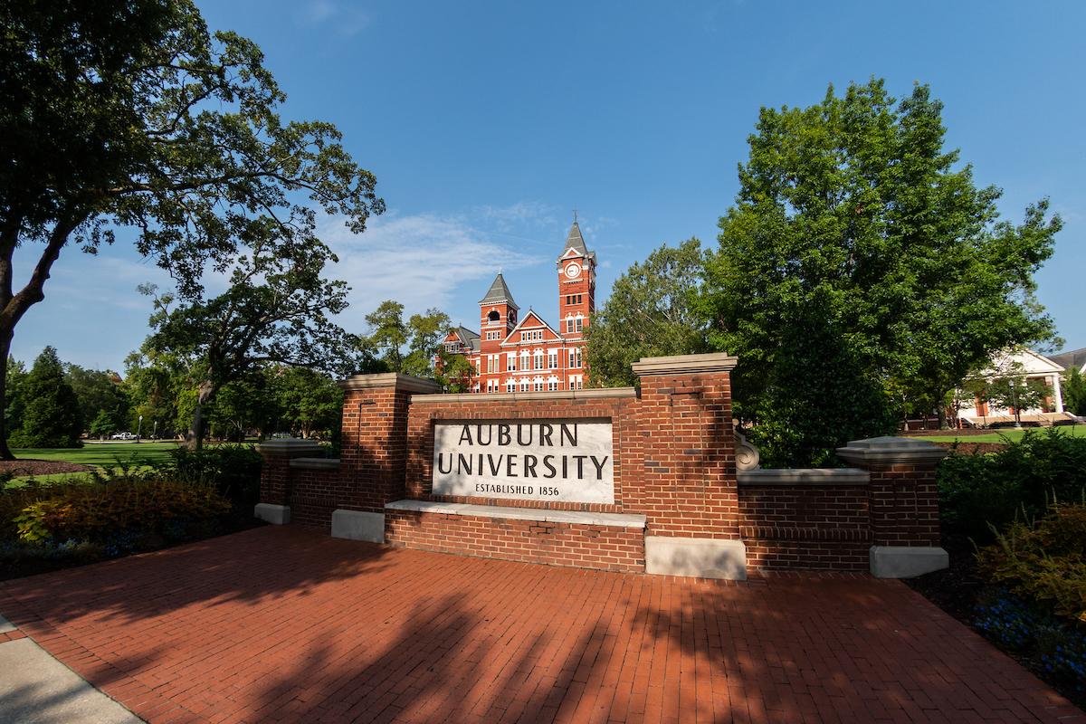 Samford Hall and Auburn University sign