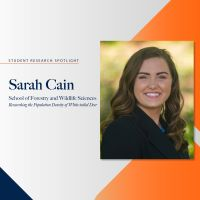 Student Research Spotlight – Sarah Cain