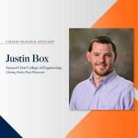 Justin Box student research spotlight