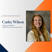 Carley Wilson student research spotlight