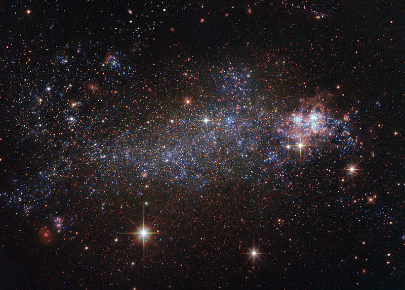 a view of NGC 5408 galaxy taken from the Hubble Space Telescope (courtesy NASA)