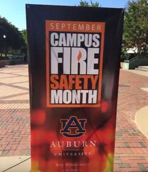 AU Campus Fire Safety Month banner