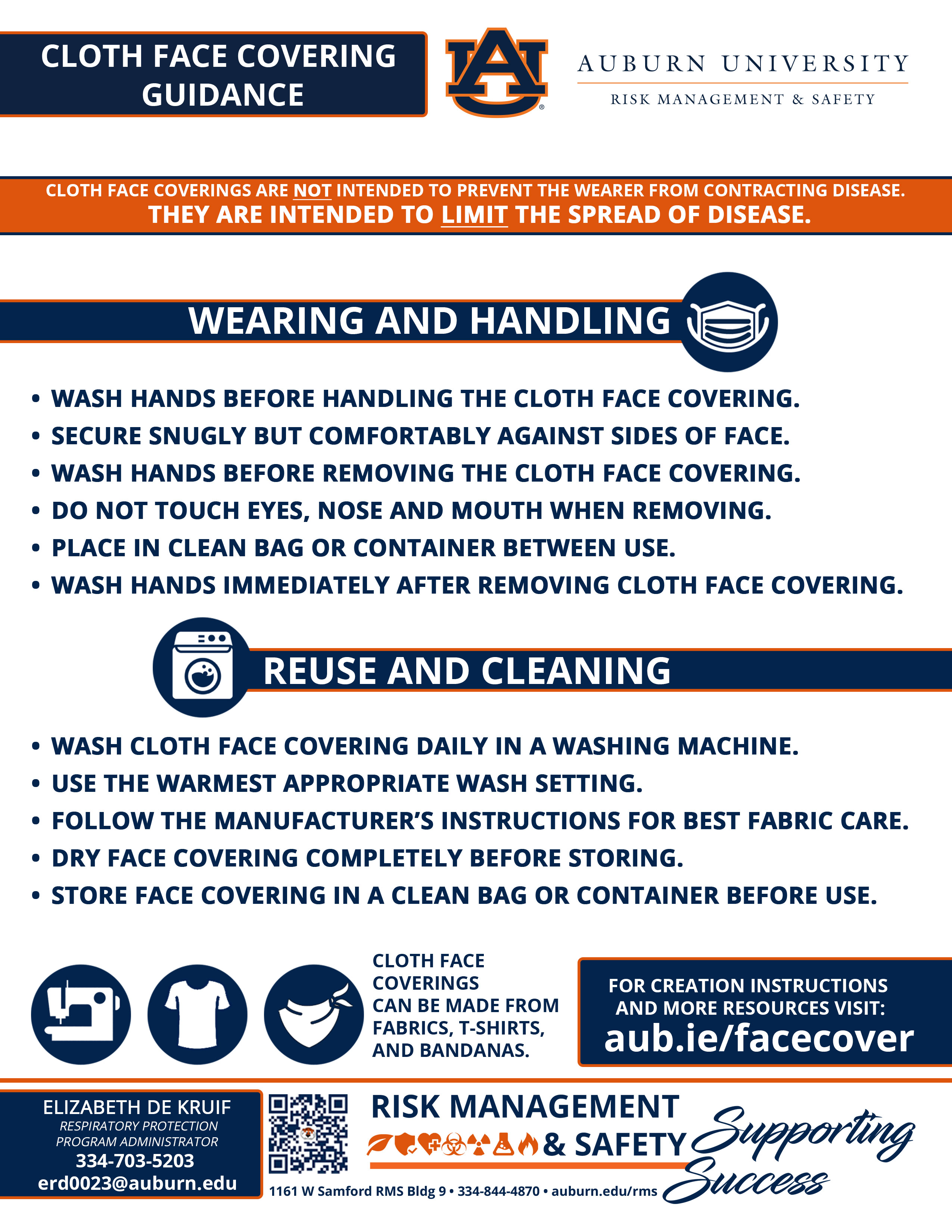 Cloth Face Mask Guidance