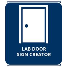 Lab Door Sign Creator