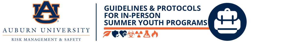 AUBURN UNIVERSITY GUIDELINES AND PROTOCOLS FOR IN-PERSON SUMMER YOUTH PROGRAMS